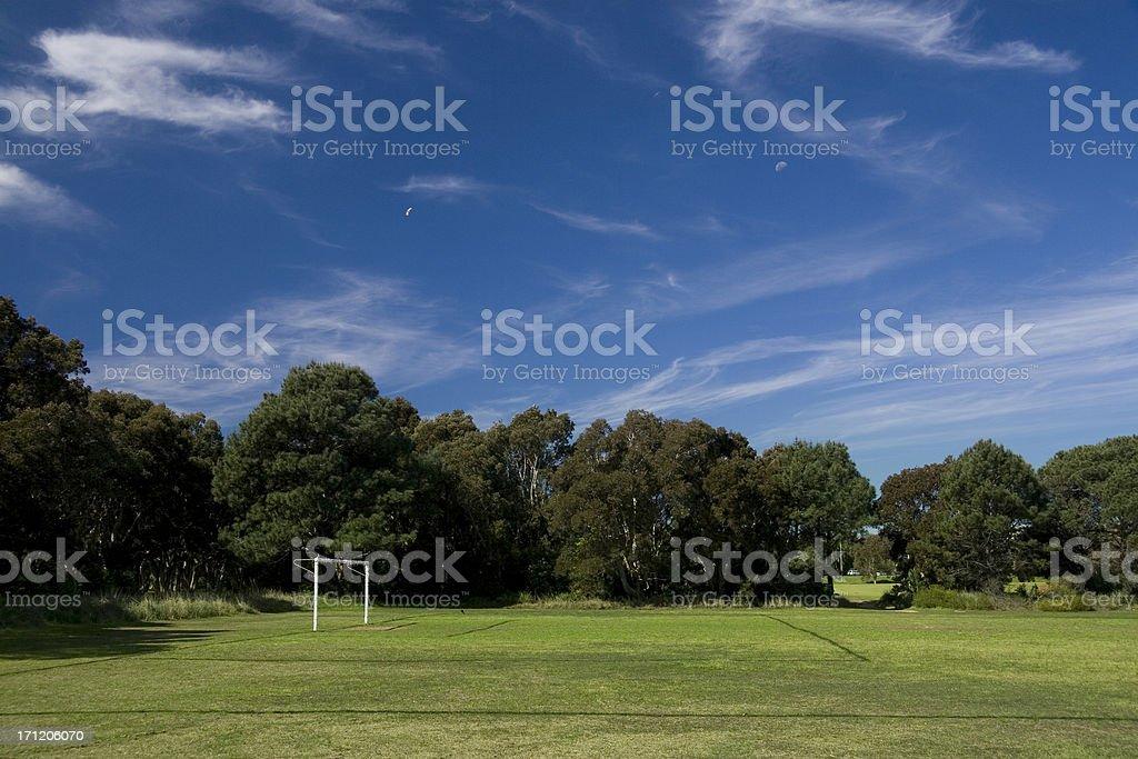 Park soccer field royalty-free stock photo