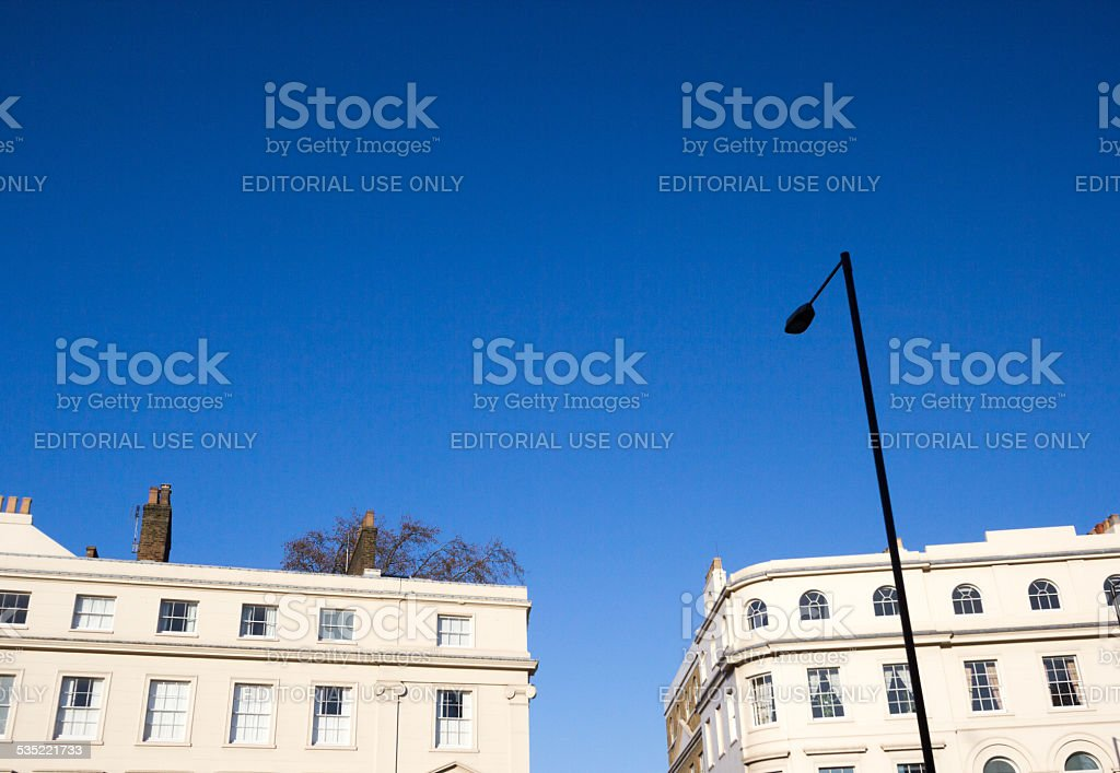 Park Square in Westminster, London stock photo