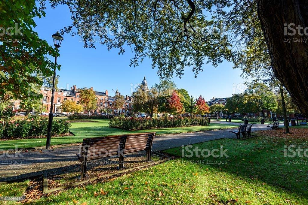 Park Square -Leeds, England stock photo