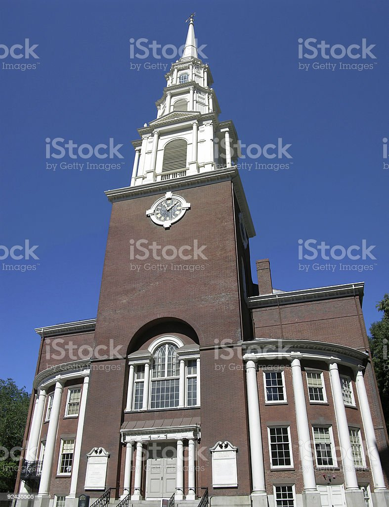 Park Street Church royalty-free stock photo