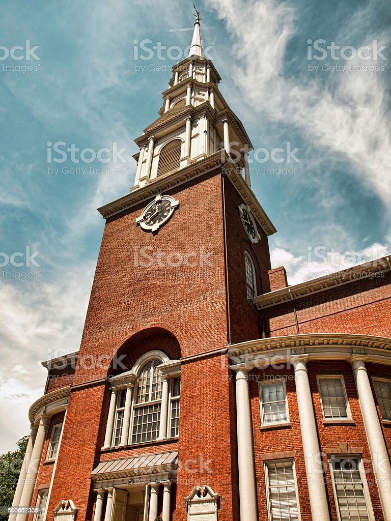 park street congressional church stock photo
