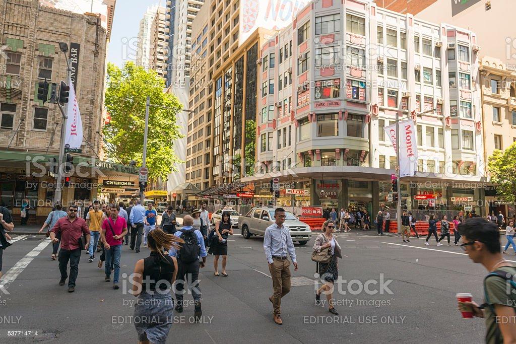 Park Street, Sydney Australia stock photo