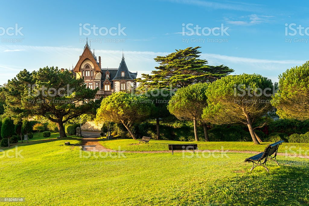 Park View Comillas, Spain stock photo