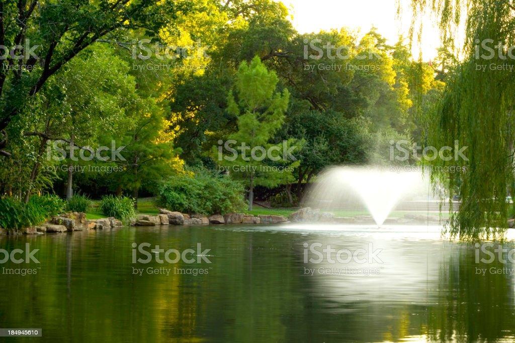 park water fountain stock photo