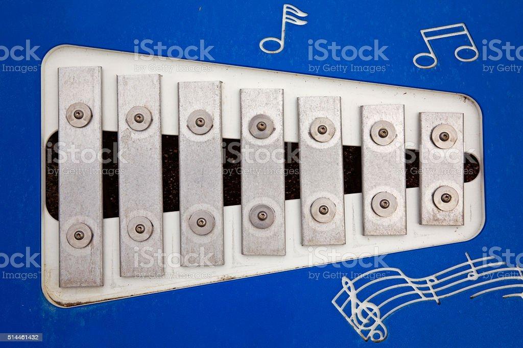 Park Xylophone stock photo