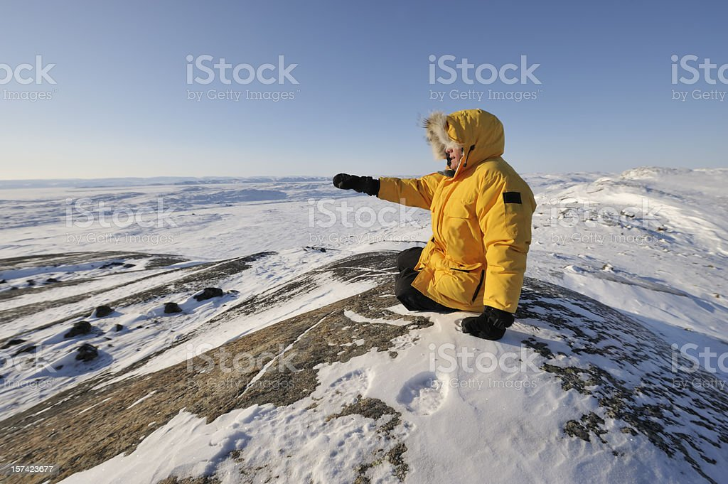 Parka man, High Arctic, Baffin Island. royalty-free stock photo