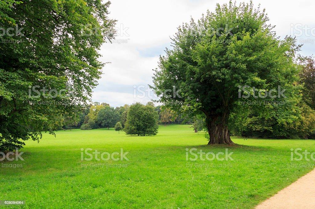 Parkanlage Bad Muskau stock photo