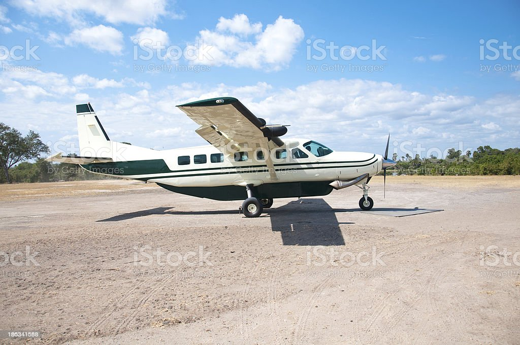 parked airplane royalty-free stock photo