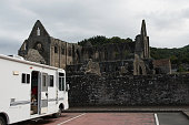 RV parked at Tintern Abbey