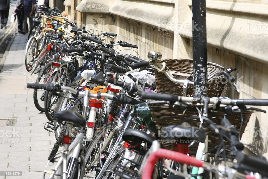 Parked Bicycles royalty-free stock photo