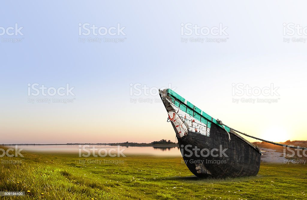 Parked Boat stock photo