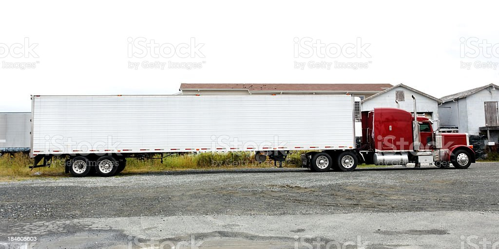 Parked Cab and Trailer stock photo