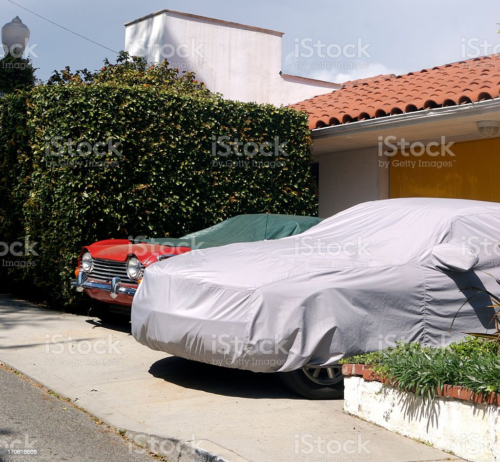 Parked Cars royalty-free stock photo