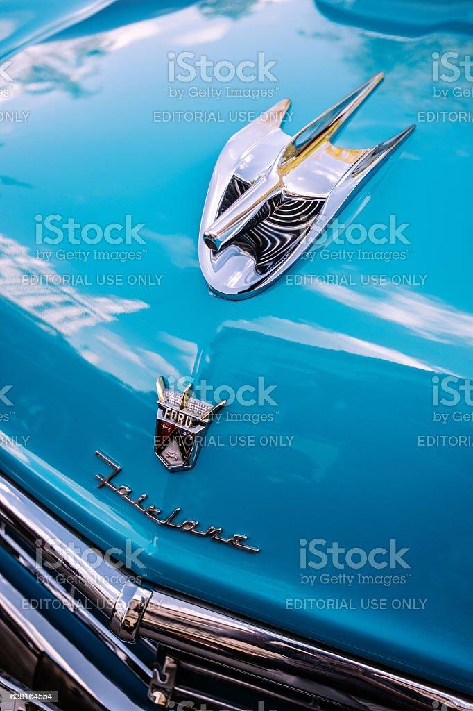 Parked Classics in Havana stock photo