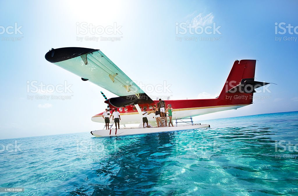 Parked in the ocean royalty-free stock photo