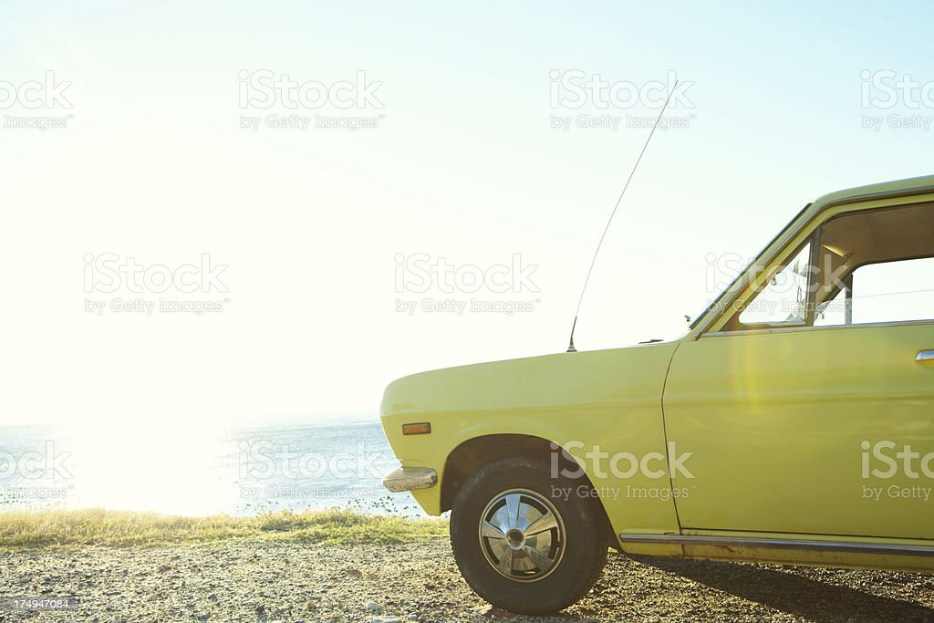 Parked in the perfect spot royalty-free stock photo