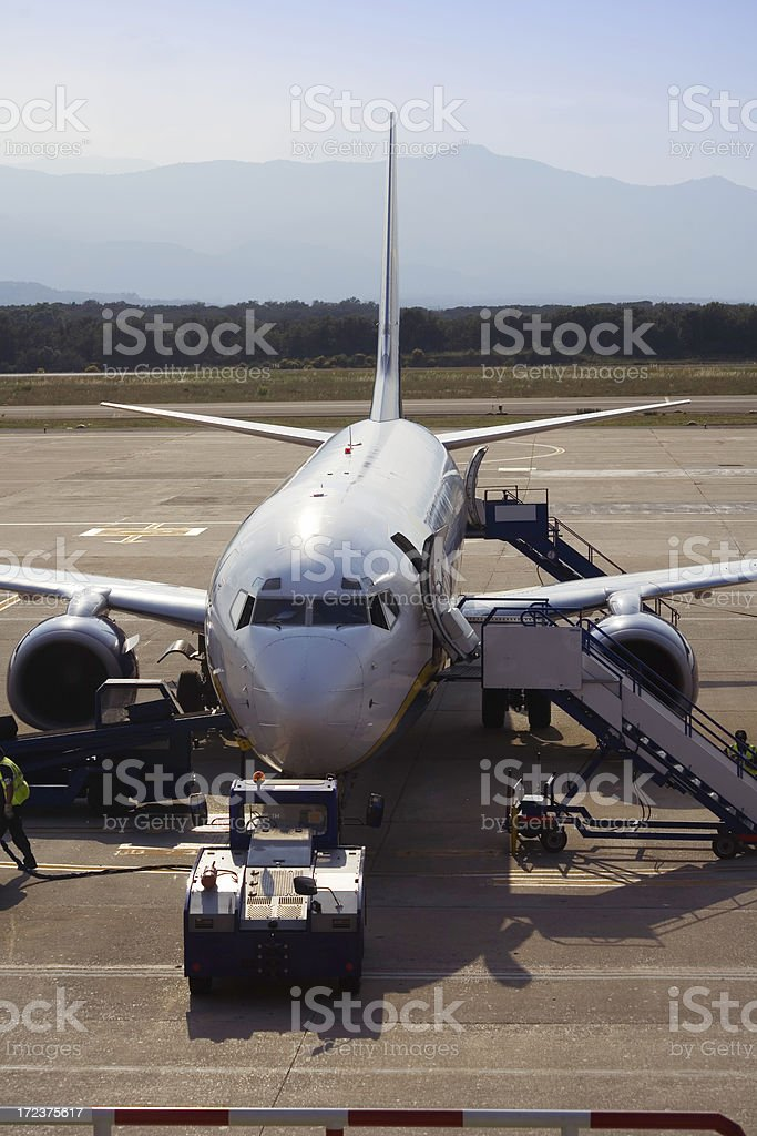 Parked Jet plane royalty-free stock photo