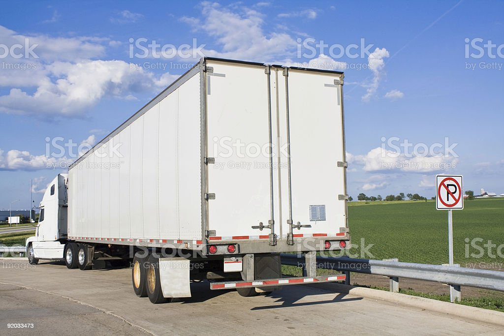 Parked Semi-Truck royalty-free stock photo
