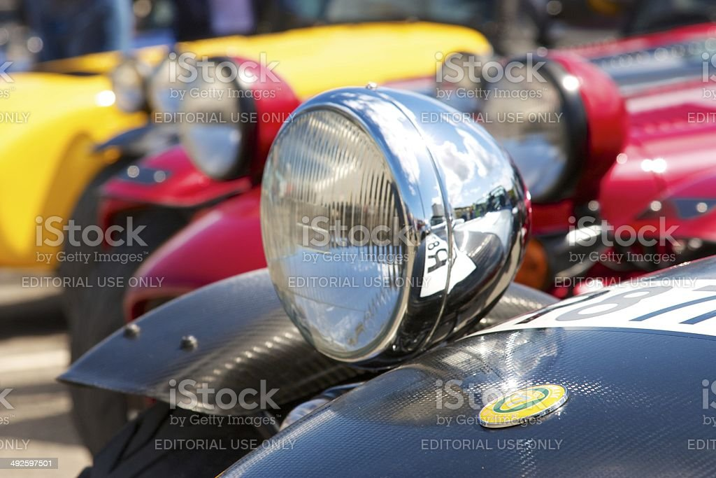 Parked Sports Cars stock photo