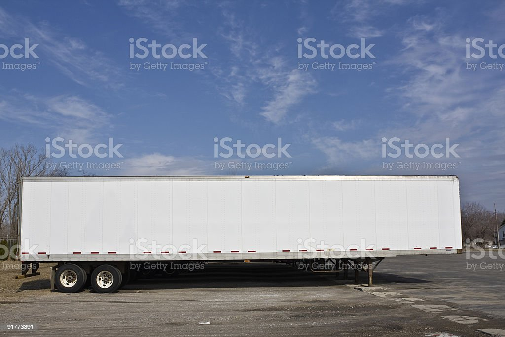 Parked trailer ready for pick up. royalty-free stock photo