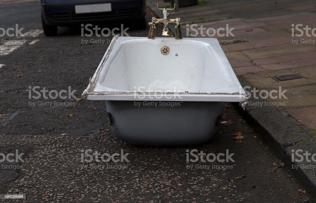 Parked tub stock photo