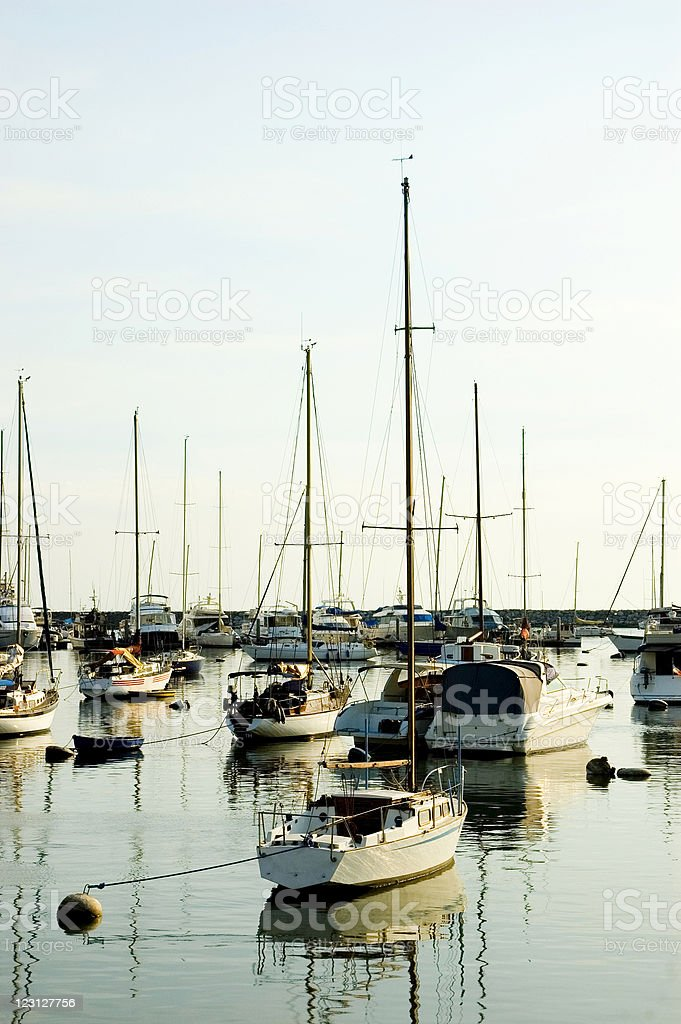 Parked Yachts royalty-free stock photo