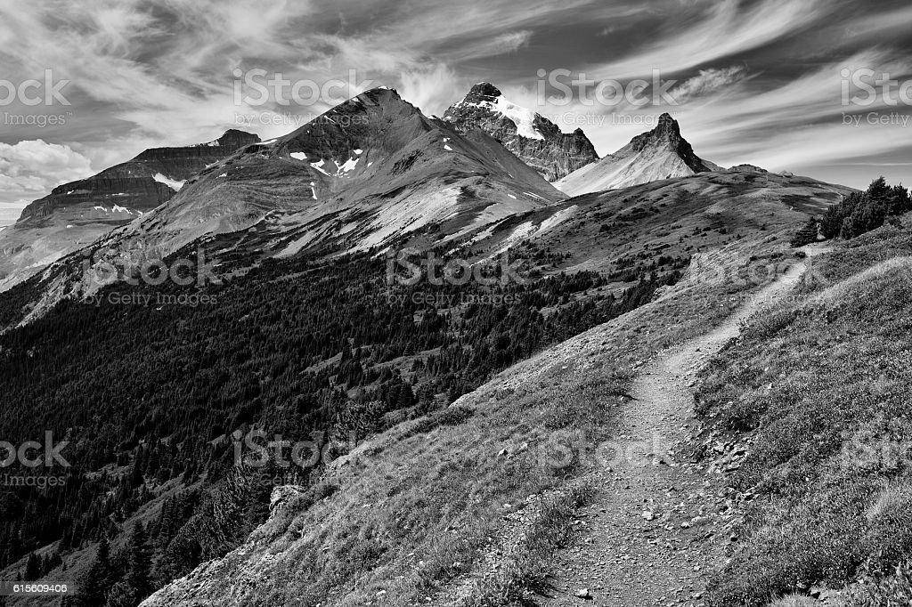 Parker Ridge Banff National Park stock photo