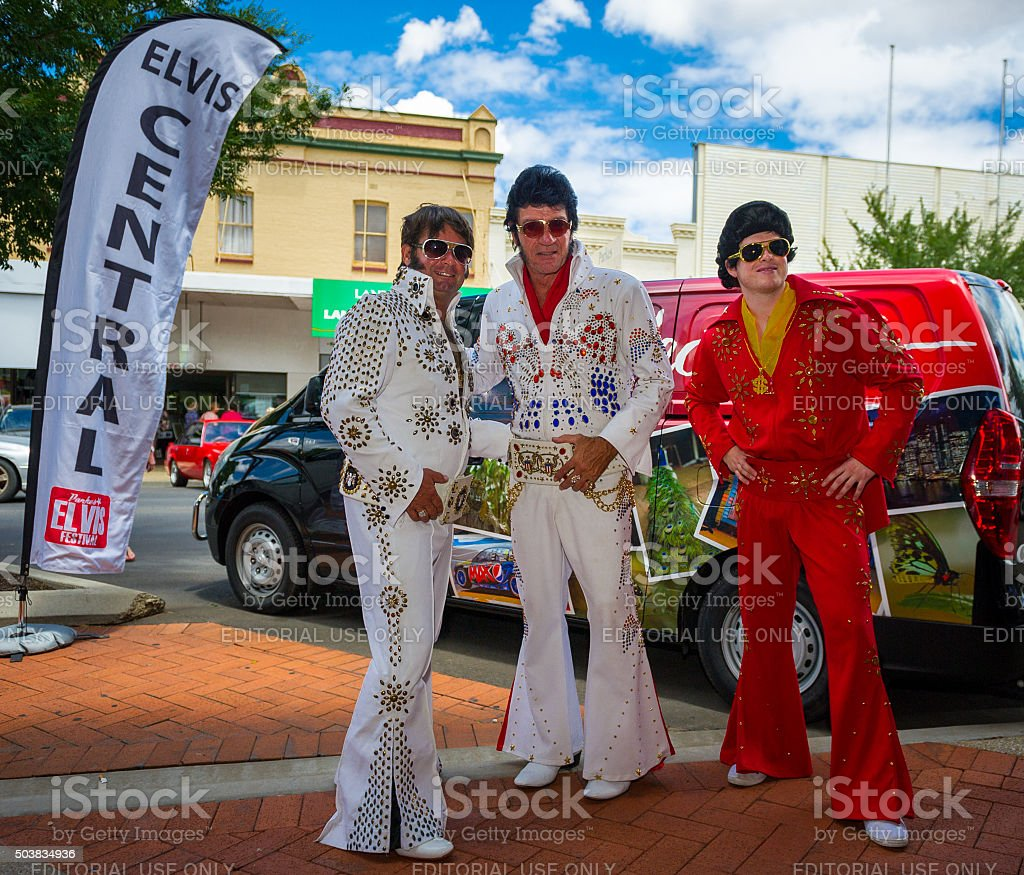 Parkes Elvis Festival 2016 stock photo