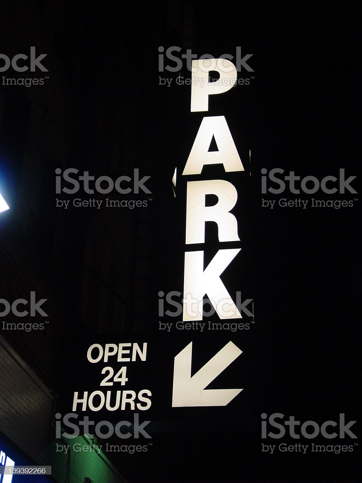 Parking 24 hrs royalty-free stock photo