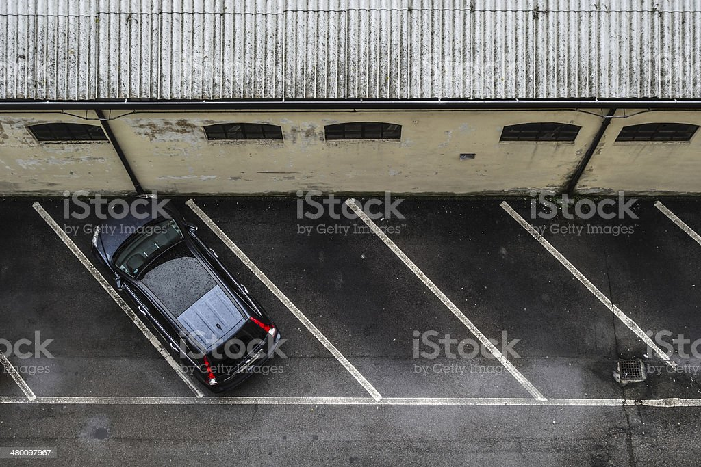 Parking alone stock photo