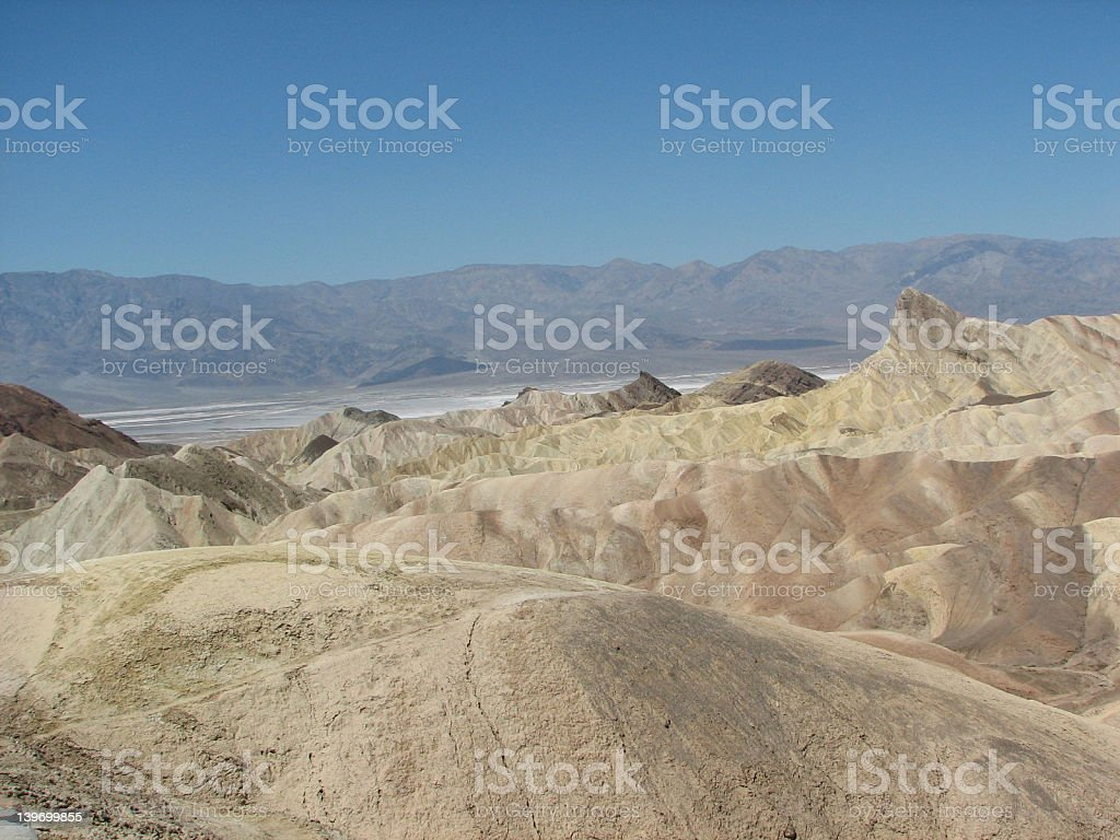 Parking at Death Valley stock photo