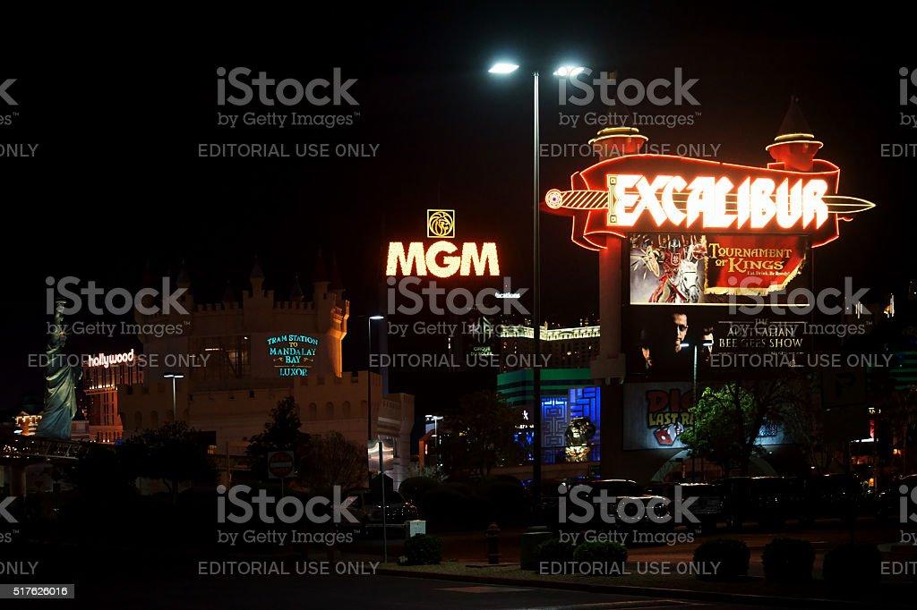 Parking behind the Las Vegas Boulevard stock photo