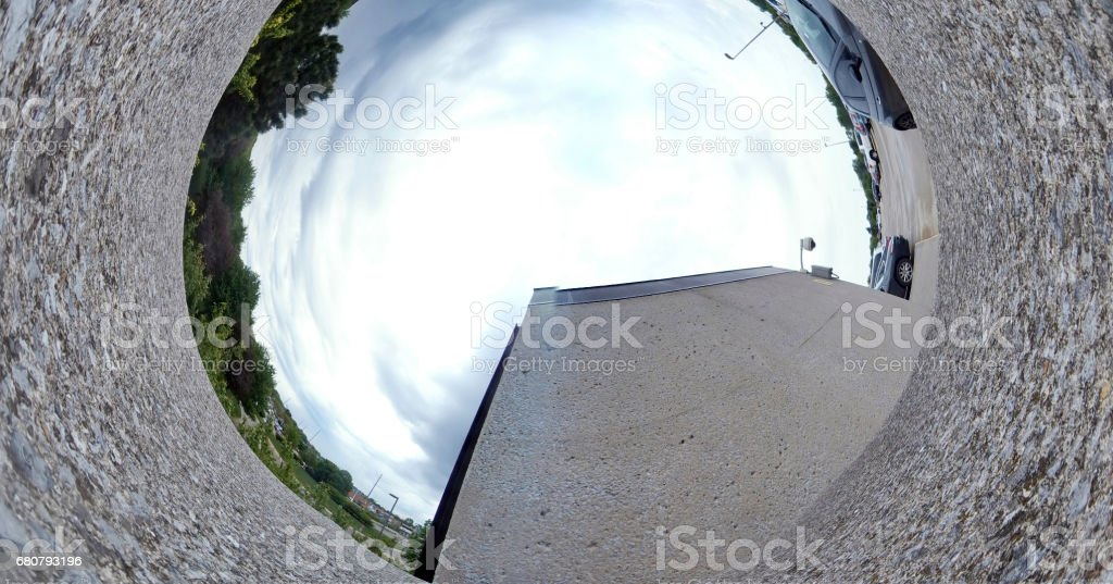 Parking Deck in 360 stock photo