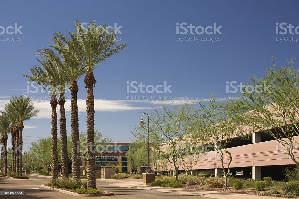 Parking Entrance and Garage royalty-free stock photo