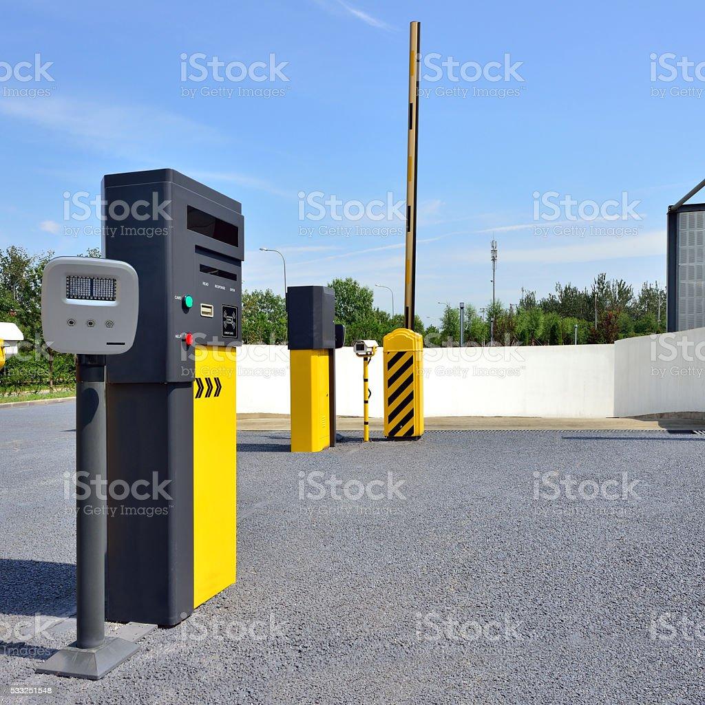 Parking Entrance stock photo