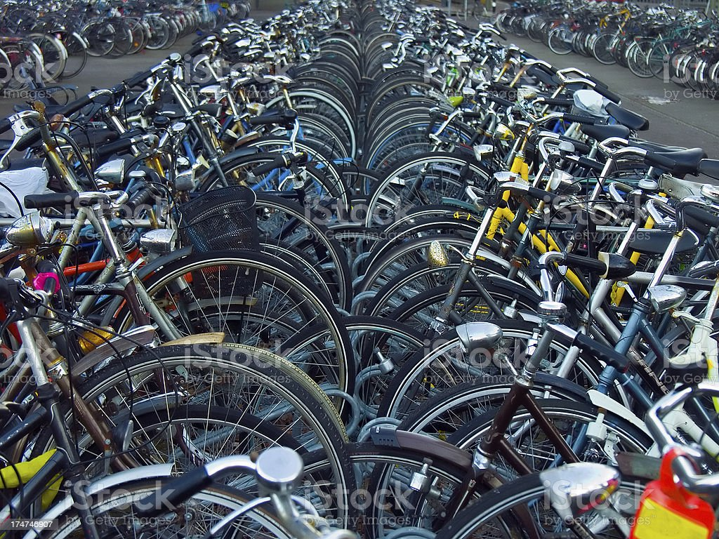Parking for Bicycles royalty-free stock photo
