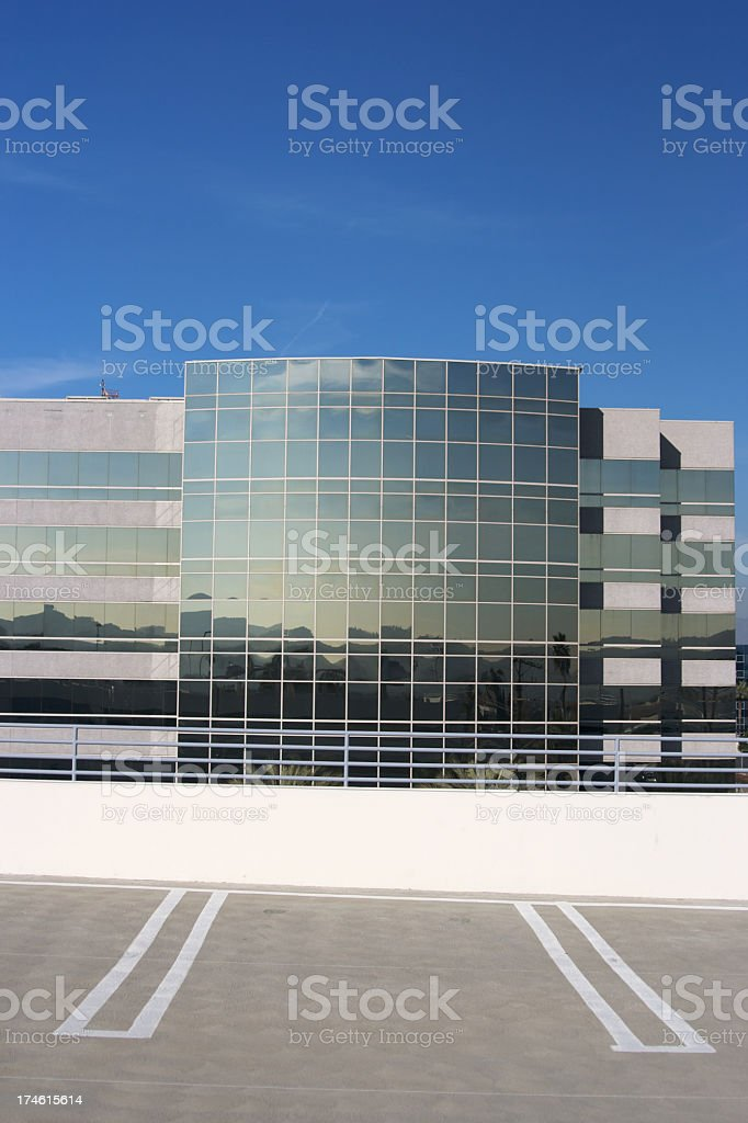 Parking for Building royalty-free stock photo