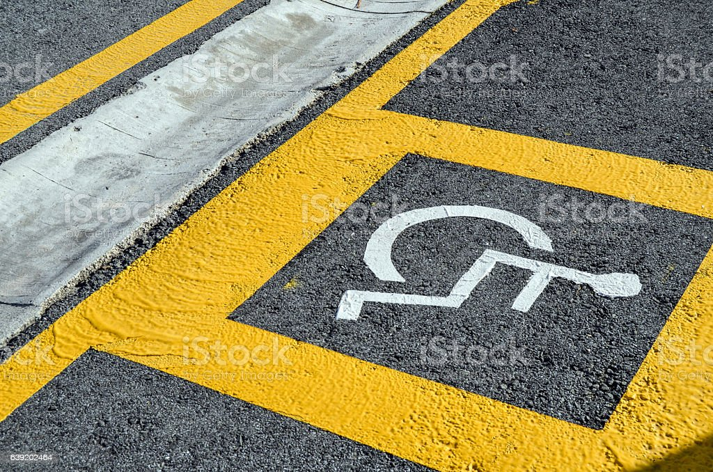Parking for handicapped stock photo