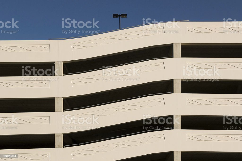 Parking Garage Abstract royalty-free stock photo