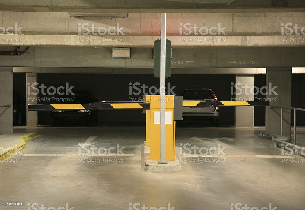 Parking garage entrance royalty-free stock photo