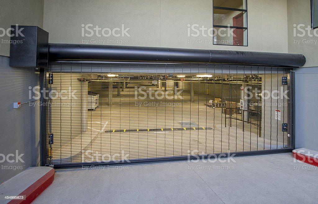 Parking Garage Entry Gate stock photo