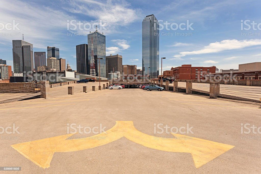 Parking Garage in Dallas Downtown stock photo