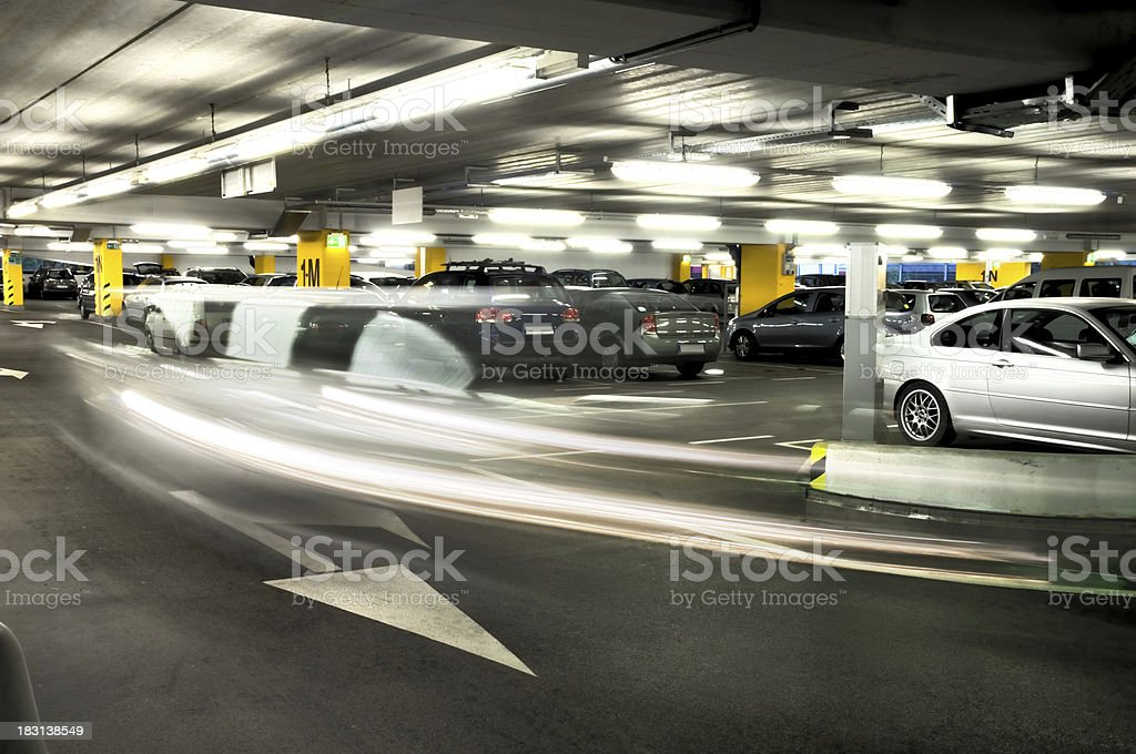 Parking garage stock photo