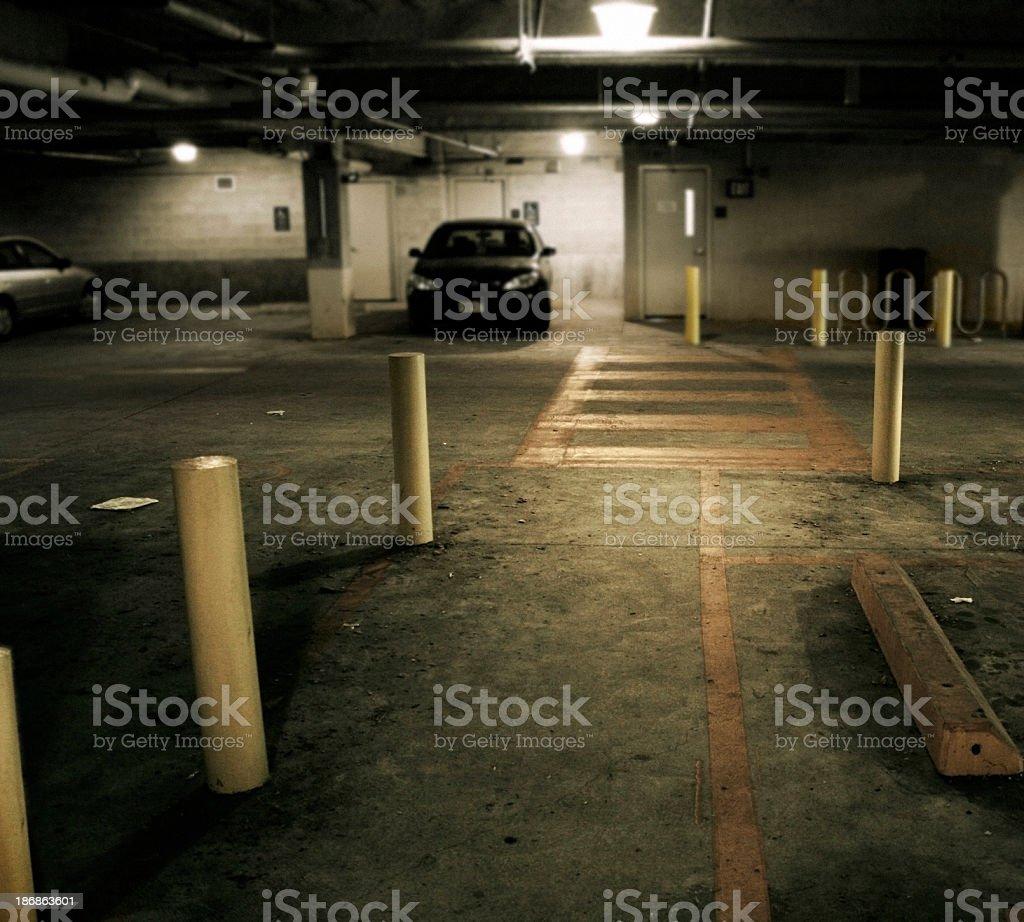 parking garage stock photo
