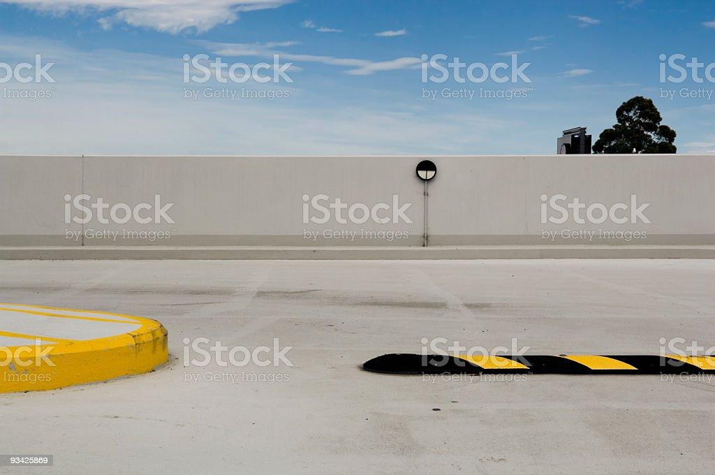 Parking Garage Roof II stock photo