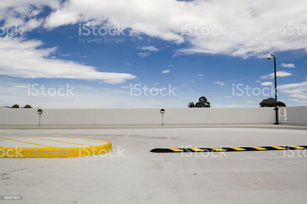 Parking Garage Roof stock photo