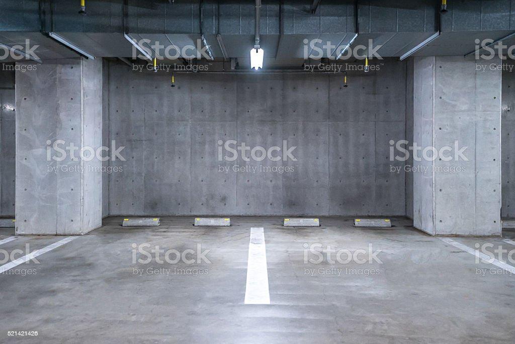 Parking garage underground stock photo