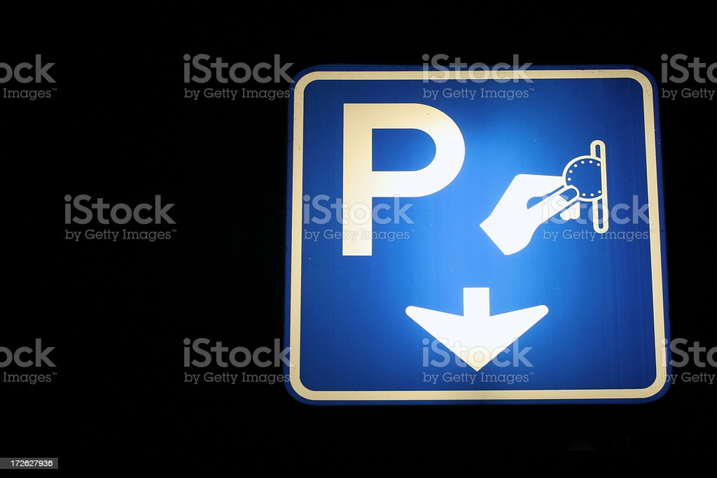 Parking here. royalty-free stock photo