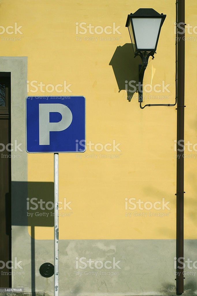 Parking in guimaraes royalty-free stock photo