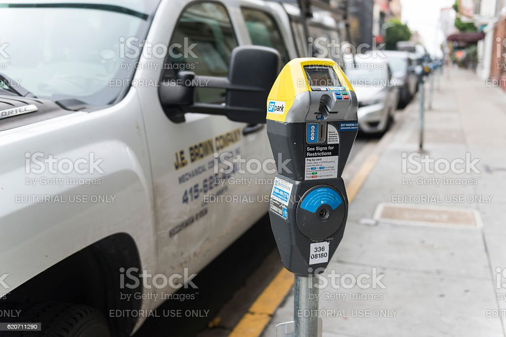 Parking in San Francisco stock photo